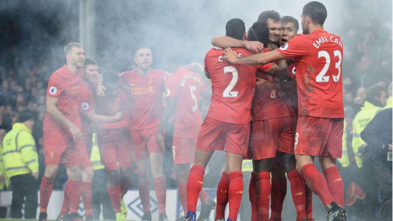 HD Liverpool celebrate Merseyside derby