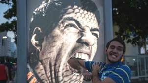 Suarez poster and fan June 26 2014 World Cup