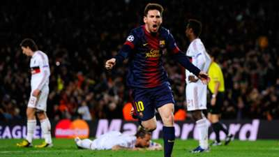 Lionel Messi Barcelona Milan Champions League