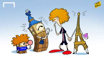 CARTOON David Luiz & Big Ben