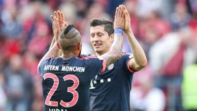 Robert Lewandowski Arturo Vidal Bayern Munich
