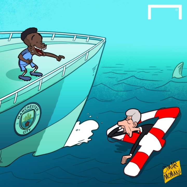 CARTOON - Sterling sinks Wenger