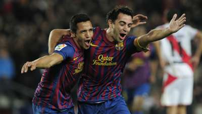 Alexis Sanchez Xavi Barcelona