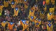 Barcelona fans Catalan flag