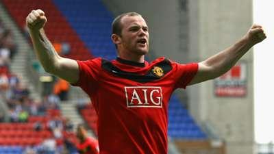 Wayne Rooney Manchester United Wigan 2009 - 100th Man Utd goal