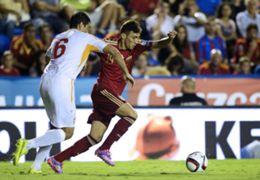Munir El Haddadi Spain Macedonia Euro 2016