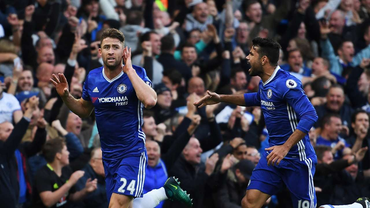 Gary Cahill Diego Costa Chelsea Manchester United