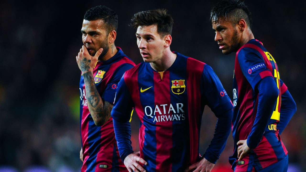 Dani Alves Leo Messi Neymar Barcelona Champions League