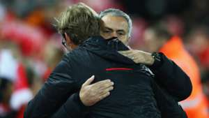 Jose Mourinho and Jurgen Klopp Premier League Liverpool v Manchester United 171016