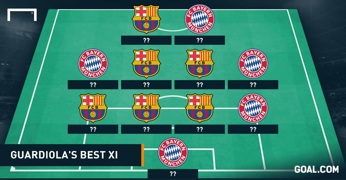 GFX Guardiola Best XI social