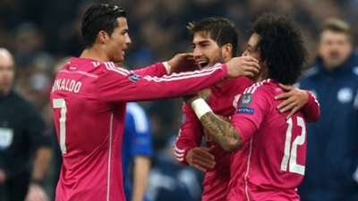 Cristiano Ronaldo Marcelo Real Madrid Schalke Champions League 18022015
