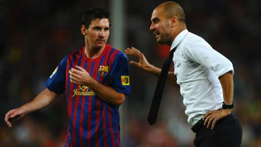 What is Lionel Messi's record for and against Pep Guardiola's teams in Champions League? | Goal.com