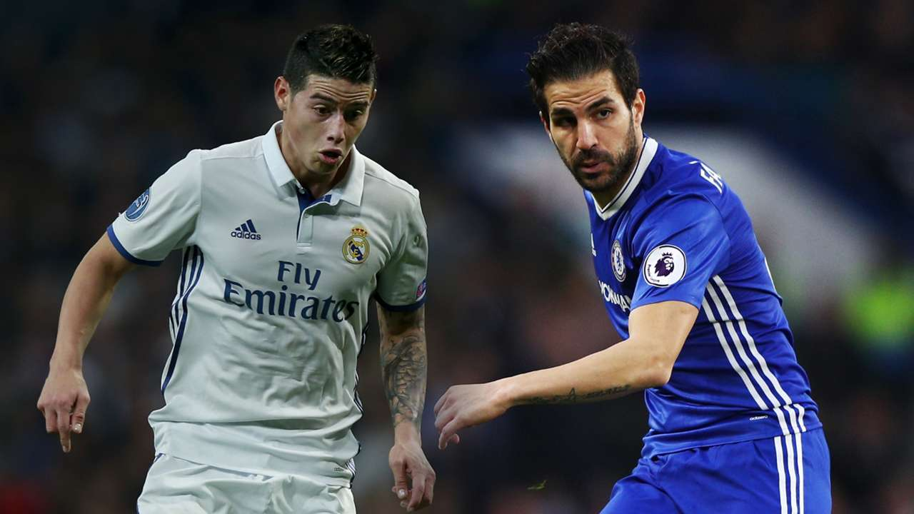 James Rodriguez, Cesc Fabregas Gallery split