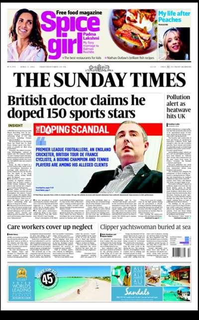 Sunday Times back