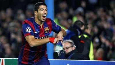 Luis Suarez Barcelona Paris Saint Germain Champions League 10122014