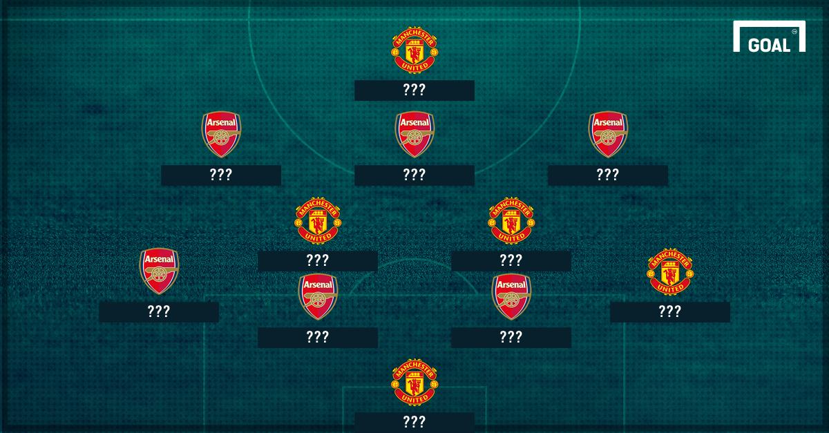 Man Utd Arsenal combined XI