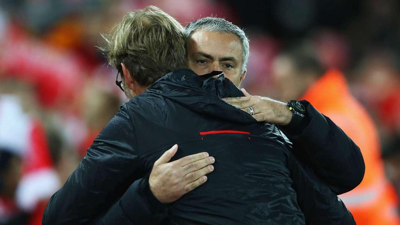 Jose Mourinho Premier League Liverpool v Manchester United 171016
