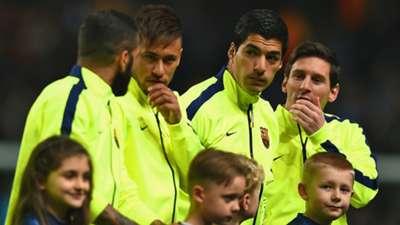 Lionel Messi Luis Suarez Neymar Manchester City Barcelona Champions League 24022015