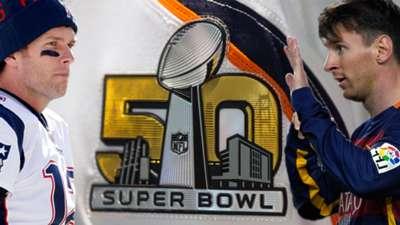 Super Bowl 50 Brady Messi montage