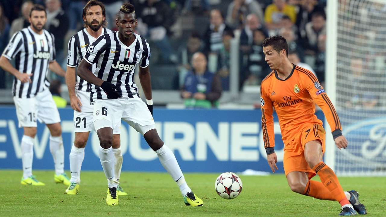 Andrea Pirlo Paul Pogba Juventus Cristiano Ronaldo Real Madrid Champions League 05112013