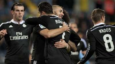 Gareth Bale Cristiano Ronaldo Karim Benzema Toni Kroos Malaga Real Madrid La Liga 291114