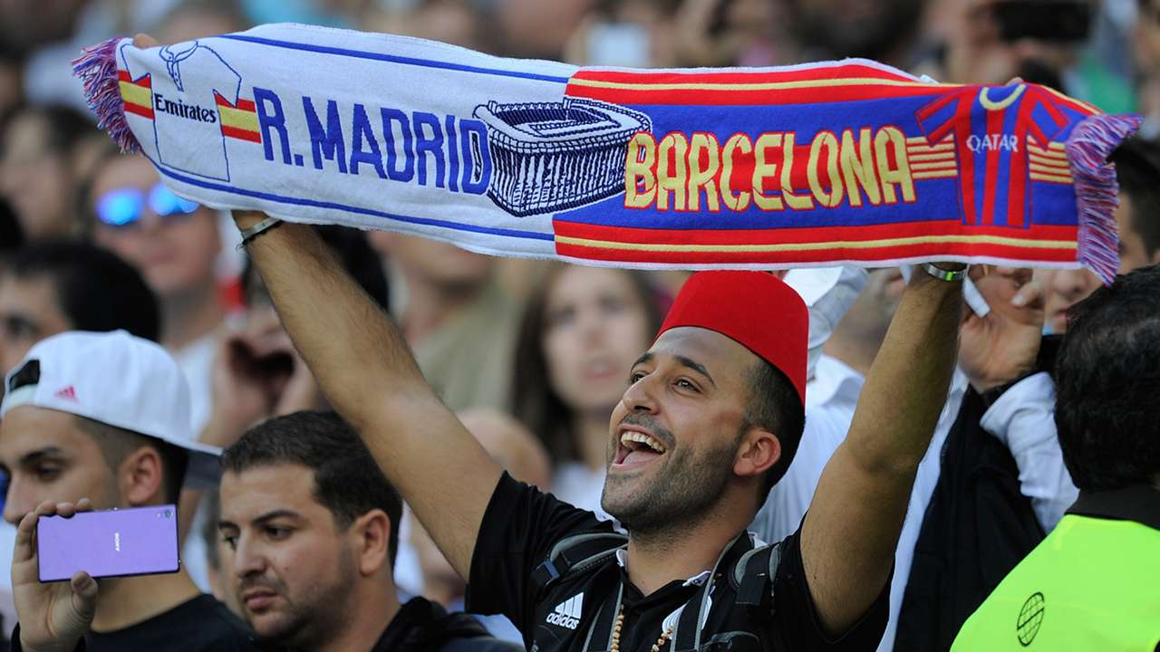 Fans Real Madrid Barcelona La Liga 2510214