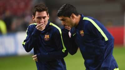 Lionel Messi Luis Suarez Barcelona Champions League 05112014