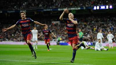 Andres Iniesta Barcelona Real Madrid
