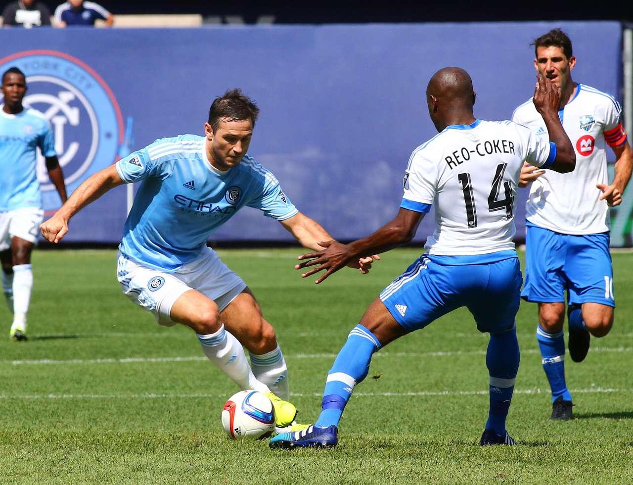 Frank Lampard Nigel Reo-Coker New York City FC Montreal Impact MLS 08012015