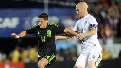 Javier Hernandez Michael Bradley Mexico USA CONCACAF Cup 10102015