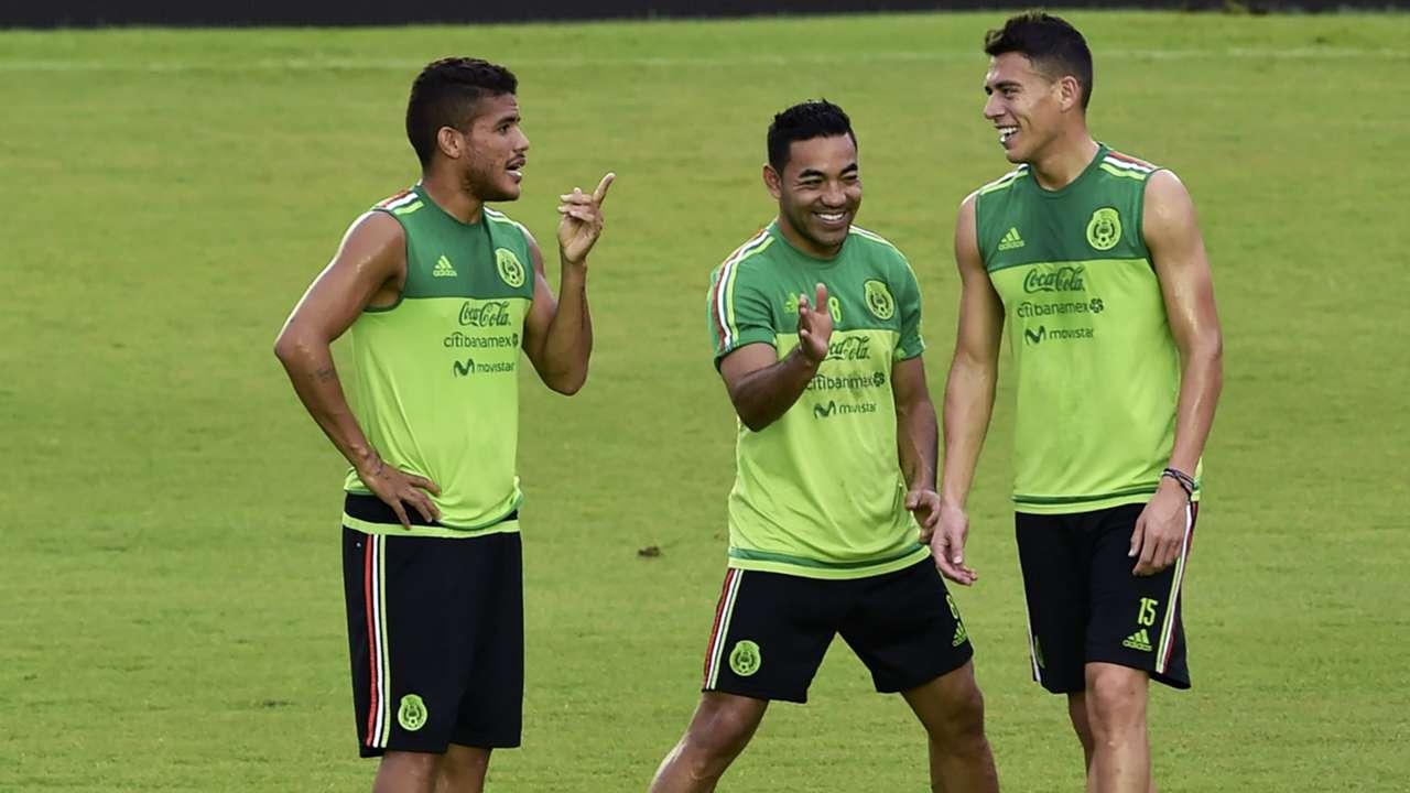 Jonathan Dos Santos Marco Fabian Hector Moreno Mexico training CONCACAF World Cup qualification 11142016