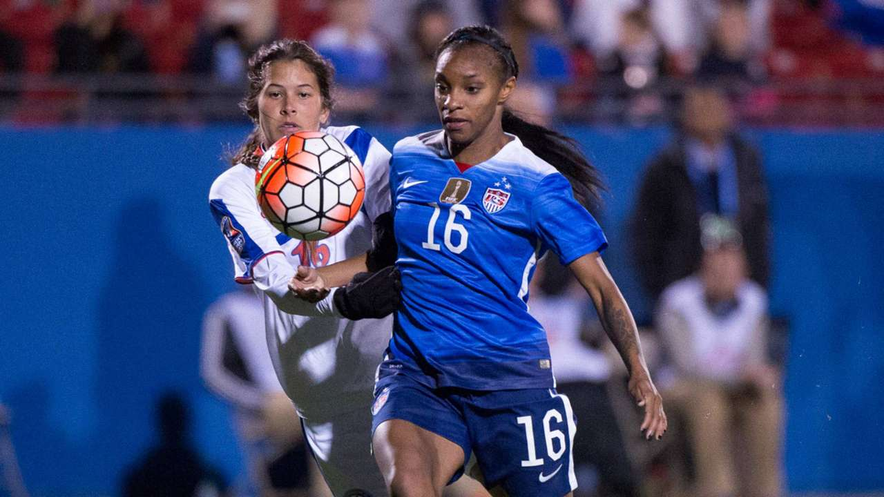 Crystal Dunn USWNT Puerto Rico Olympic qualifying 02152016