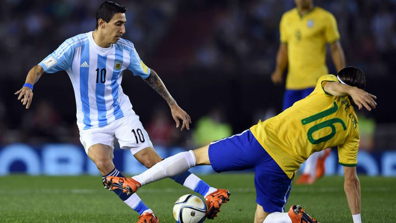 Angel Di Maria Filipe Luis Argentina Brasil World Cup Qualifiers 2015