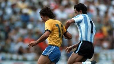 Zico Osvaldo Ardiles Brazil 3 Argentina 1 World Cup 1982 Spain 02071982