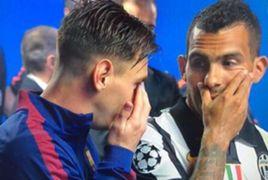 Messi Tevez saludo final champions league 06062015