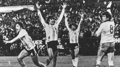 Daniel Bertoni Argentina Netherlands World Cup 1978 Final Match