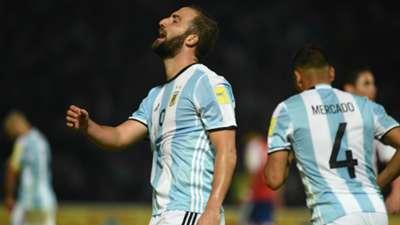 Gonzalo Higuain - Argentina – Paraguay Eliminatorias Sudamericanas 11102016