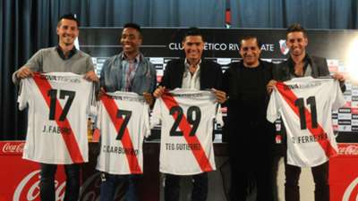 River Plate Jonathan Fabro Carlos Carbonero Teofilo Gutierrez Ramon Diaz Osmar Ferreyra