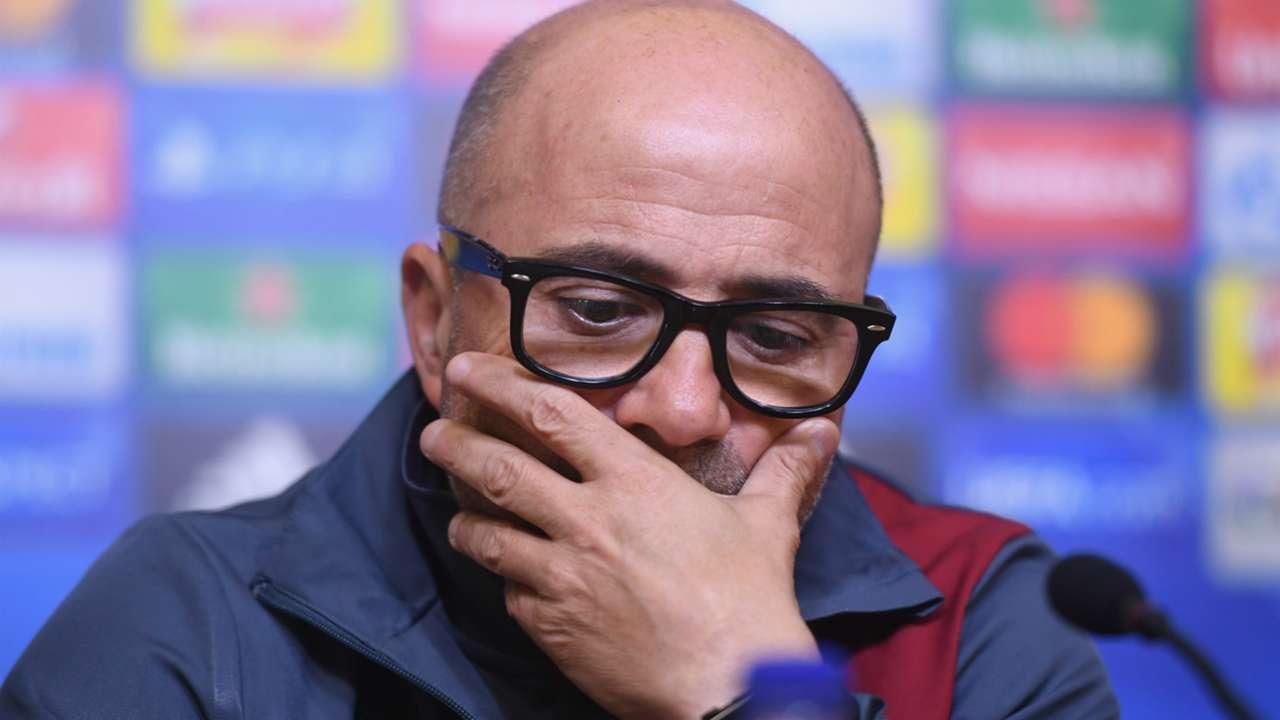 Jorge Sampaoli Leicester Sevilla Press Conference