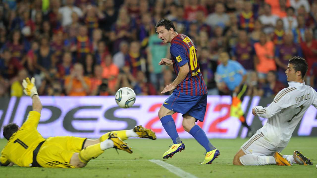 Lionel Messi Barcelona Real Madrid 17082011