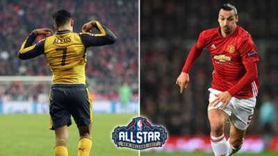 NBA All Star Game Alexis SAnchez Zlatan Ibrahimovic