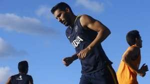 Juan Manuel Insaurralde entrenamiento Boca 2016