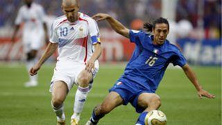 Zinedine Zidane Mauro Camoranesi Final Italy France FIFA World Cup Germany 09072006
