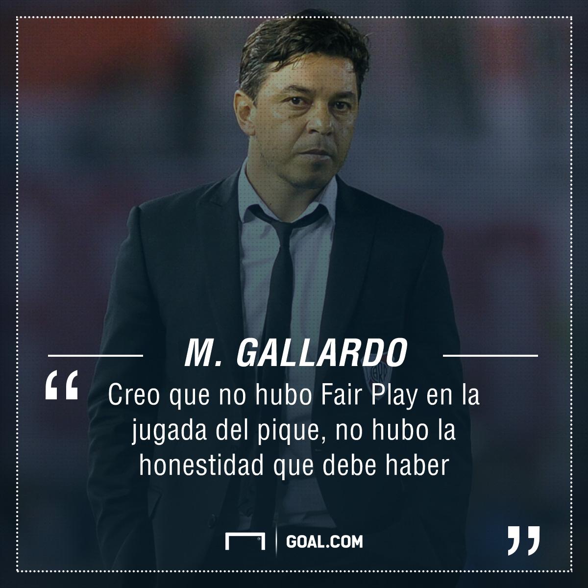 Gallardo No Hubo Fair Play En La Jugada Del Pique Pero