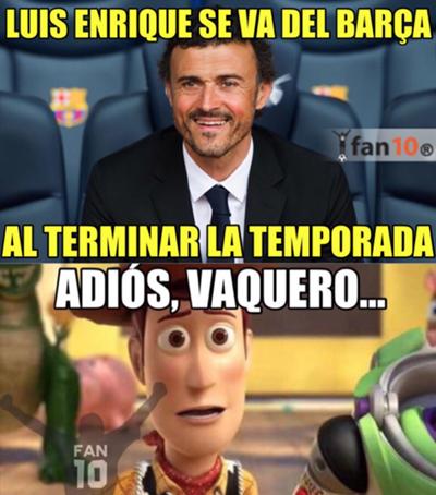 Memes de la salida de Luis Enrique