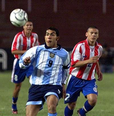 Carlos Tevez Argentina Paraguay