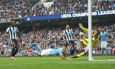 Los cinco goles de Agüero en Manchester City 6-1 Newcastle