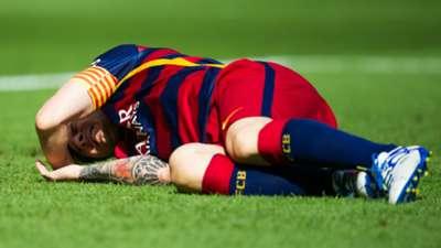 Lionel Messi Injury Barcelona Las Palmas La Liga 26092015