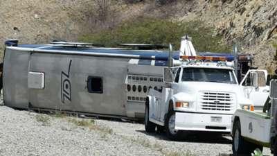 El accidente que sufrió el plantel de Huracán.