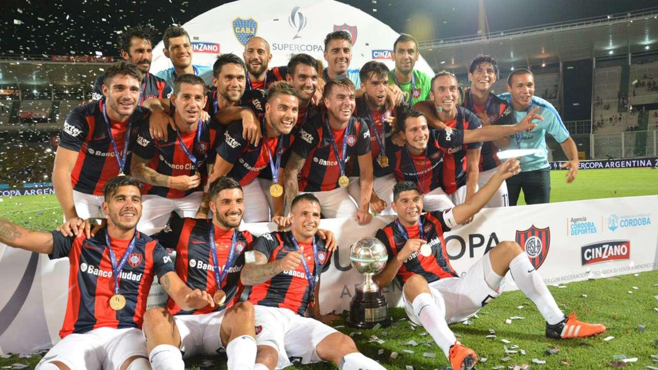 Festejo San Lorenzo Supercopa Argentina
